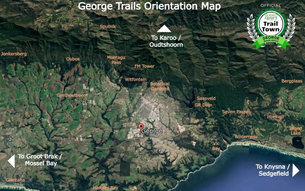 George trails and routes system overview map